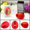 Delicated design eco-friendly egg shape silicone for iphone speaker,for iphone4/4s