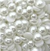 43#White color half round flatbacl pearl 2.5mm fashion decoration!