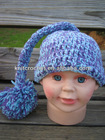 100% Cotton Baby Hand Crocheted Pixie Hat,crochet Tail elf hat, Crochet Flower Hat (KCC-TM00194/8)