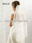 (VEIL 13) 2012 White/Ivory One Layer Short Bridal Veil