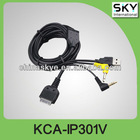 Good av cable KCE-301V for kenwood player