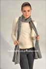 Ladies 100% Merino wool jacquard shawl