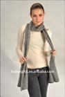 Ladies 100% Merino wool jacquard shawl