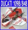 ABS Motorcycle Fairings kit For Ducati 1198 / 1098 / 848 Years Sportbike