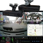 Video output night vision GPS dual camera car video recorder with password