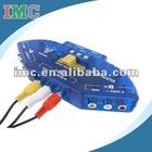 3 Way AV Audio RCA Input Switch/Splitter (IMC-PJRCA-0664)