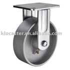 rigid cast iron caster
