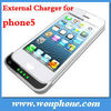 New arrival!!! Rechargeable external backup battery case for iphone5