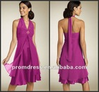 CD-168 Cheap Chiffon Halter Cocktail Formal Dress for Women
