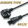 Europe type standard power cords
