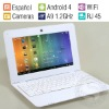Spanish Language Cheap Mini Laptop Netbook,Spanish Keyboard Input,Android4.0 OS,1.2GHz CPU,HDMI,WiFi,Ethernet Access,Camera