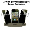 High quality 2 way privacy (glossy) screen protector