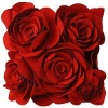 2012 best selling 3D embroidery rose cushion cover