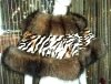 LADIES FASHION RABBIT FUR SHAWL TRIM WITH BIG FOX FUR