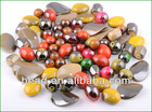 half-side gun metal color arcylic bead