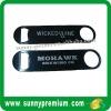 Black Lacquer Stainless Steel Bar Bottle Opener