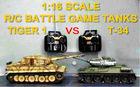 *Radio comtrol/remote control (R/C )model tank, 1/16 R/C Battle Game Tanks: Russian T-34/85 VS German Tiger 1