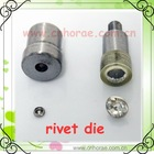 different rhinestone rivets dies of hand press machine