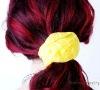 Yellow Flower Elasticized Gilr's Fabric Hair Band