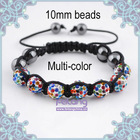 multi color beads coloful crystal bracelet