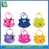 2013 cute and lovely custom silicone rubber baby bib silicon baby bib with different pattern