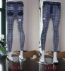 lady fancy polyester or cotton jean leggings with printing