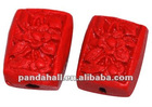 Cinnabar Beads Wholesale, Red Carved Lacquerware(CARL-P006-1)