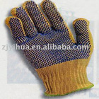 kevlar glove with PVC dots