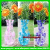 TOP supplier in CHINA factory outlets more than 1000styles free samples customized logo meddium vase15cm*27 flower vase plastic
