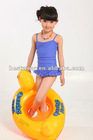 New child lotus leaf bottom and hem side cute girl one-piece swimsuit