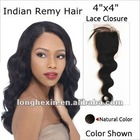 indian remi hair body wave silk top lace closures with clip-in hair products