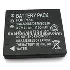 3.7V 1100mah Camera battery pack for Panasonic CGA-S008E/DB70/CE10