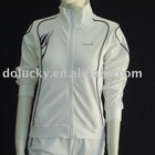 2012 fashion Ladies white polyester sport suit(top)