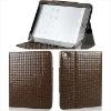 Folio style Mosaic grain PU leather case for ipad 2 sleeve