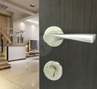 stainless steel elegant door handle lock set
