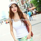 2013 wholesale vest tops,plain white cotton vest,garment,tank tops in bulk