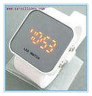 hot selling mirro watch,led silicone watch