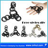 Free Styles Metal Iron Crinkled Wire Charm pendant scarf Jewelry DIY accessories 14st01