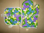cotton oven mitten,cooking oven glove,printed oven mitt