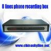 HOT / 8 lines telephone voice recording box,telephone recorder
