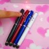 Multi function 4in1 red laser.led light alstylus pen for ipad