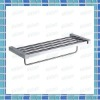 Bathroom square double layer towel rack in zinc alloy
