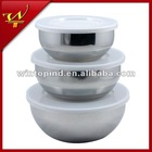 3PCS Mixing Bowl Set With Plastic Lid