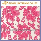 Cheap African red elastic lace fabric for dresses