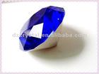 30mm blue machine cut octant Crystal diamond