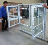Large glass double pane windows with grill design,french window design,bottom fixed side hinged windows