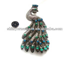 2012 wholesale metal Rhinestone peacock candle pin