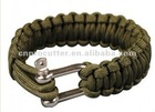 Survival Bracelet with stainless shackle