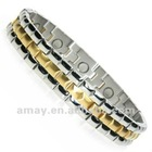 high quality fashion stainless steel/titanium 2 tone magnetic bracelets