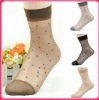 Ladies jaquard dot uard silk socks short socks ankle socks